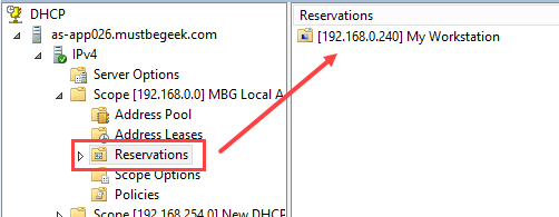 Configure DHCP Reservation in Windows Server 2012 R2 - 4